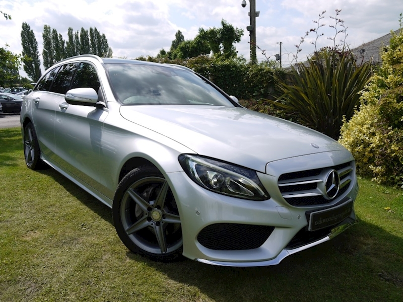 Mercedes C Class C220 Bluetec AMG Line Premium (PANORAMIC GLASS ROOF+MEMORY Pack+COMAND+AMG Alloys+PRIVACY+Merc Hist)