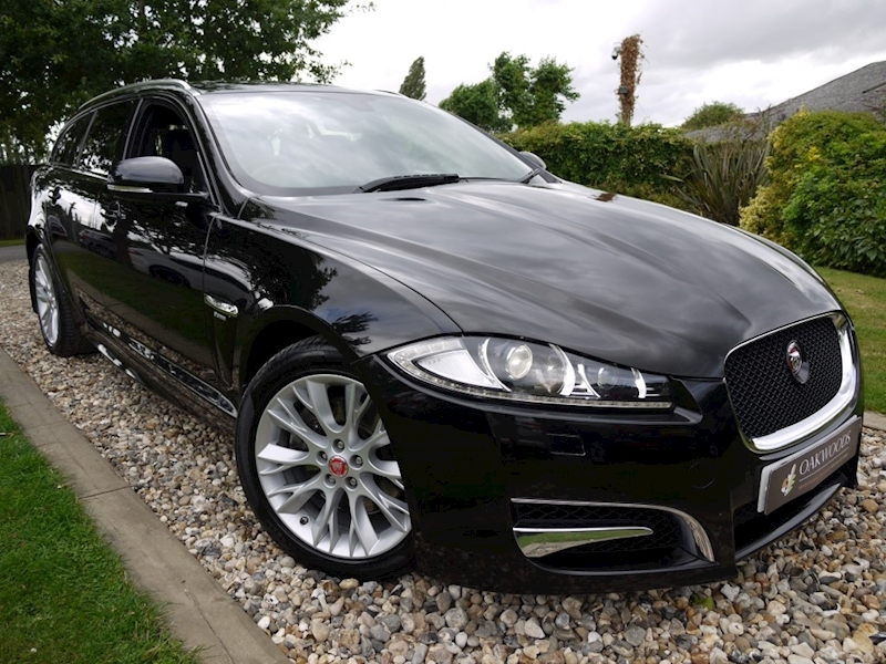 Jaguar Xf 3.0D V6 R-Sport Sportbrake (Black Pack+Power Tailgate+CRUISE+Privacy+DAB+2 Owners)