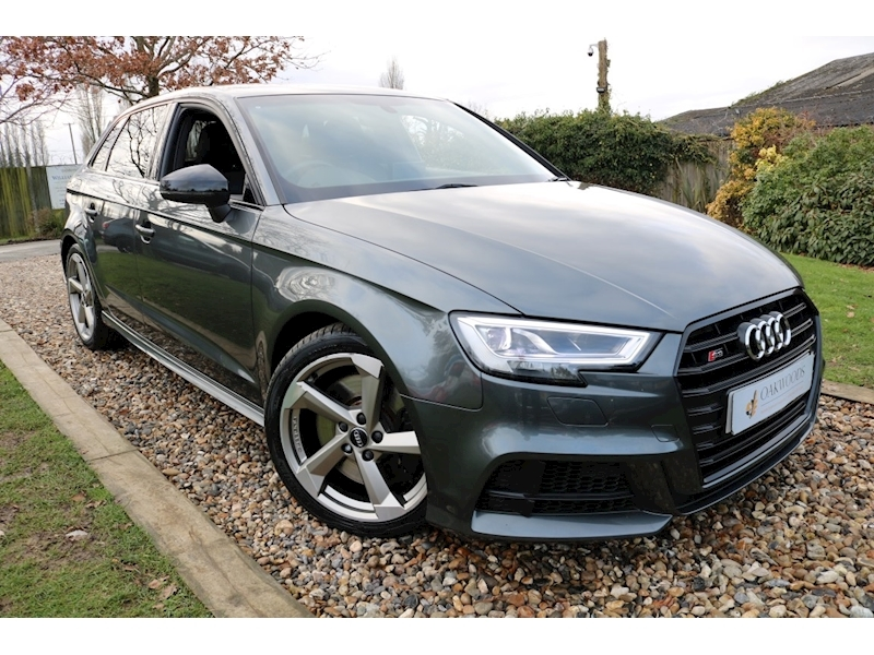 Audi S3 2.0 TFSI Black Edition 310ps (Bang and Olusten+Sat Nav+Black Styling Pack+DAB+Cruise+Audi History)