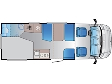 Adria Sun Living by Adria S 70 DF (French Bed Layout) - Thumb 1