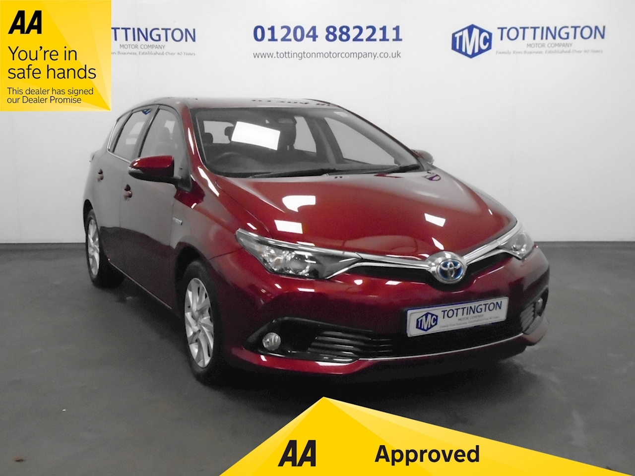 Toyota Auris (Hybrid) Business Edition 1.8 5dr Hatchback Automatic Petrol Hybrid