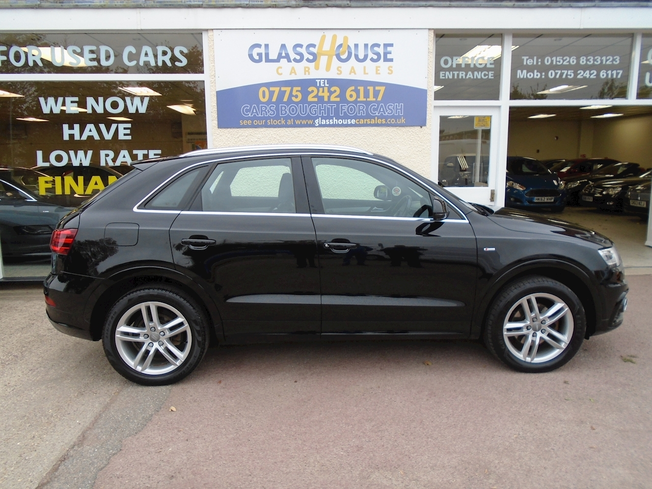 Used Black 2013 Audi Q3 Tdi Quattro S Line Estate 2 0 Semi Auto