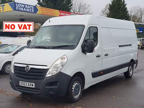Vauxhall Movano 2.3 CDTi 3500 Panel Van 5dr Diesel Manual FWD L3 H2 EU5 (100 ps) Panel Van 2.3 Manual Diesel