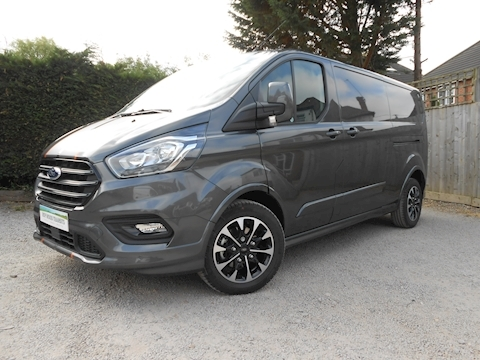 Ford Transit Custom Sport 310 L2 H1 Auto 2.0 170ps Euro 6 Van with Dual side doors and Tailgate