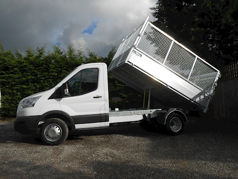 Ford Transit 350 L2 Mwb Alloy Tipper with removable cage sides and rear doors. 2.0 130ps Euro 6 Six speed.