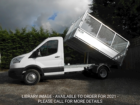 Ford Transit 350 L2 Mwb Alloy Tipper with removable cage sides and rear doors. 2.0 170ps Euro 6 Six speed.