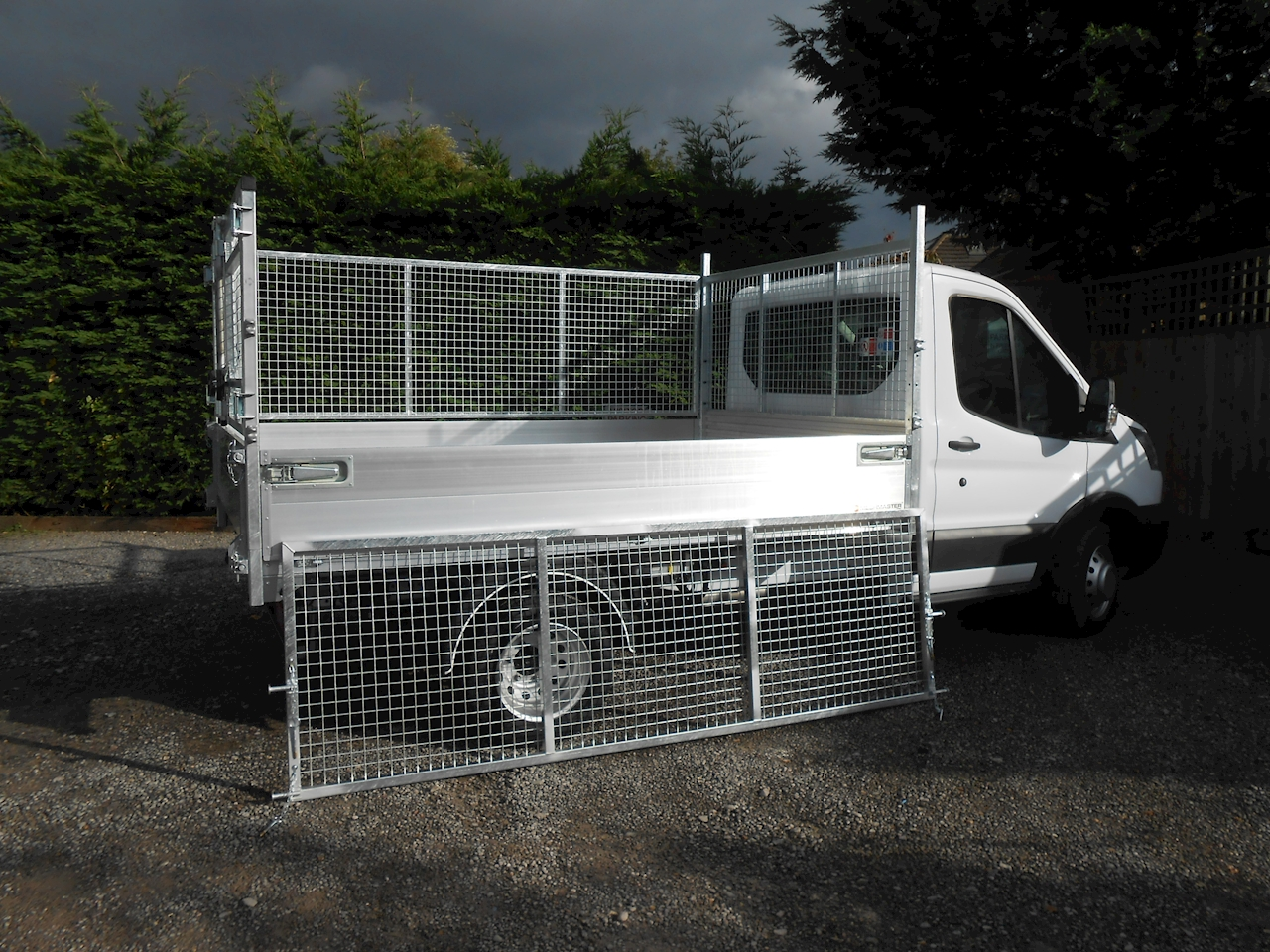 ford transit   mwb alloy tipper  removable cage sides  rear doors  ps