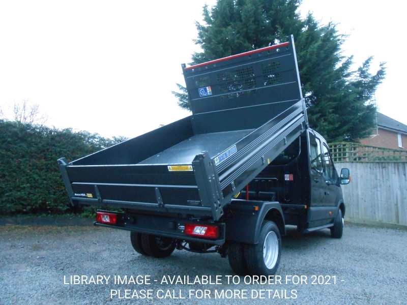 Transit 350 L3 Lwb Crew Cab Tipper Agate Black RARE 2.0 170ps Euro 6 engine 1995 4dr Tipper Six speed manual Diesel