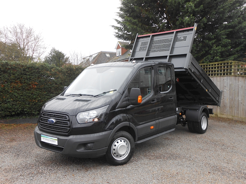 Transit 350 L3 Lwb Crew Cab Tipper Shadow Black RARE 2.0 170ps Euro 6 engine 1995 4dr Tipper Six speed manual Diesel