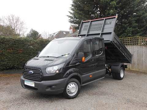 Ford Transit 350 L3 Lwb Crew Cab Tipper Shadow Black RARE 2.0 170ps Euro 6 engine