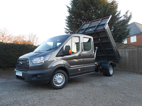 Ford Transit 350 L3 Crew Cab Bison Tipper Magnetic Grey RARE 2.0 Euro 6 170ps WITH 6,300kg Train mass