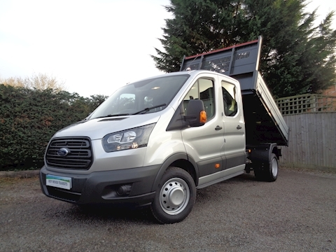 Ford Transit L3 Lwb Crew Cab Bison Tipper 2.0 170ps Euro 6 CAB AIR CON