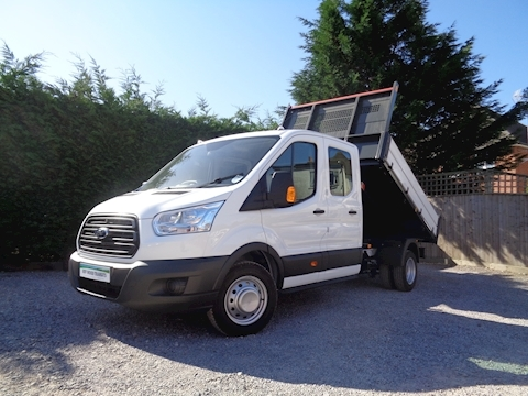 Ford Transit 350 L3 Lwb Double / Crew Cab Bison Tipper 2.0 170ps Euro 6 6,300kg Gross train mass