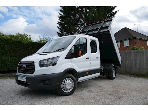 Ford Transit 350 L3 Lwb Double / Crew Cab Bison Tipper 2.0 130ps Euro 6 6,000kg train mass for towing