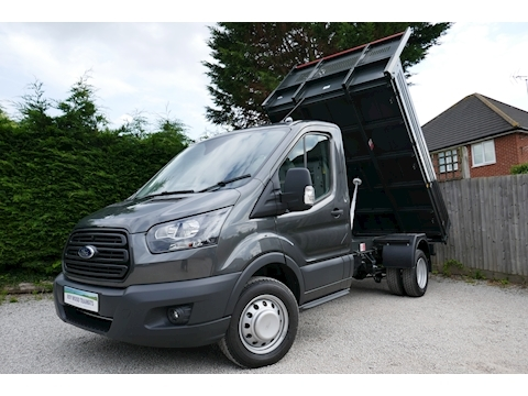 Ford Transit 350 L2 Bison Tipper 170ps Euro 6, Air Con & 6,300kg train mass