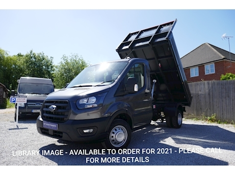 Ford Transit 350 L2 Bison Tipper 130ps Euro 6, Metallic Paint, Air Con & 6,500kg train mass