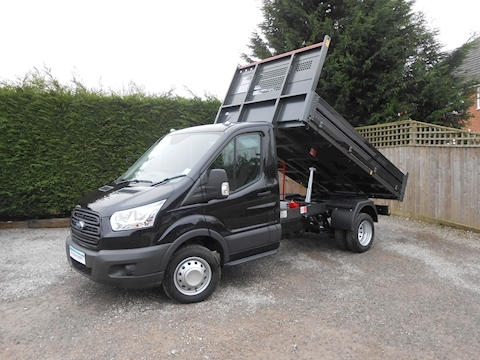 Ford Transit 350 L2 Mwb Bison Tipper 170ps Euro 6 & 6,300kg train masss