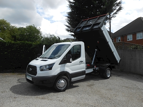 Ford Transit 350 L2 Mwb Bison Tipper 2.0 170ps Euro 6,  6,300kg train mass IN STOCK TODAY