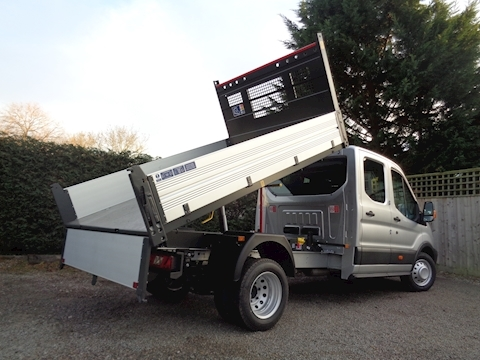 Ford Transit 350 L3 Crew Cab Bison Tipper - CAB AIR CON - 2.0 Ltr 170ps six speed