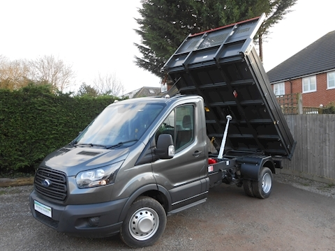 Ford Transit L2 350 Bison Tipper 2.0 130ps Euro 6 inc Cab Air Con - 6,000kg train mass