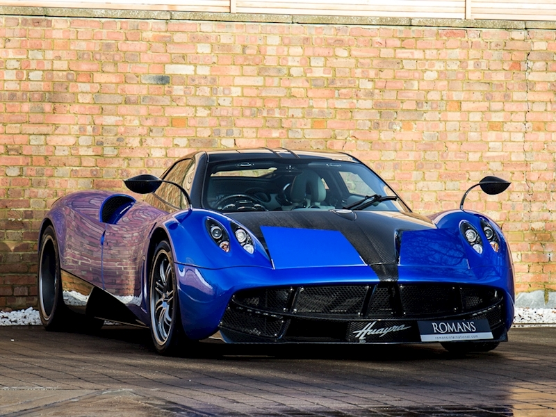 Pagani Huayra For Sale >> 2016 Used Pagani Huayra Blu Francia With Exposed Carbon Fibre