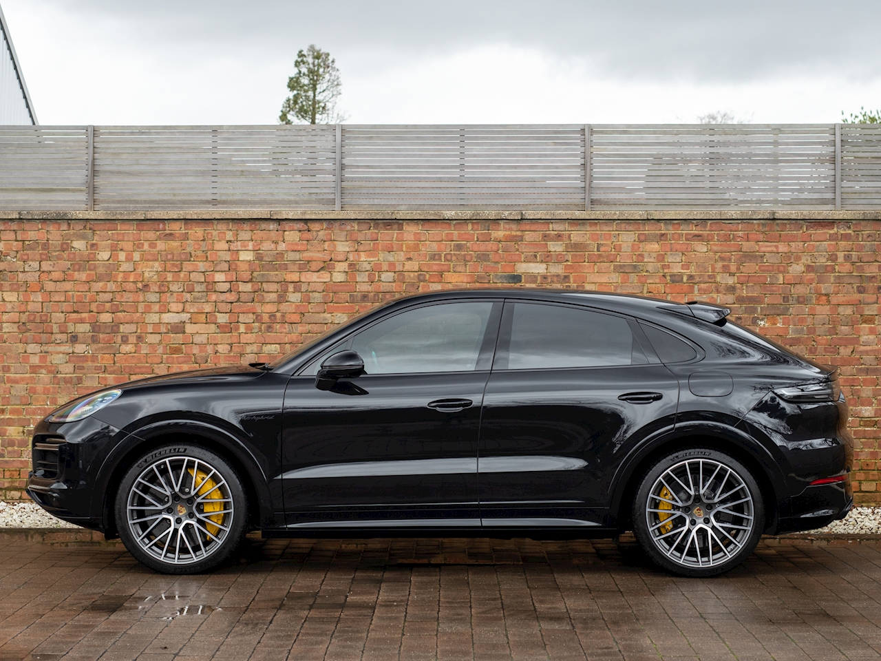 2019 Used Porsche Cayenne Turbo S E Hybrid Jet Black Metallic