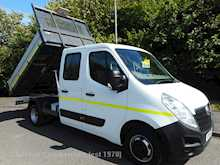 Vauxhall Movano R3500 LWB 6 seat crewcab tipper 125ps 33000 miles