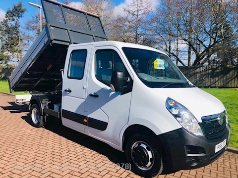 Vauxhall Movano R3500 LWB (L3) 6 seat alloy bodies crewcab tipper