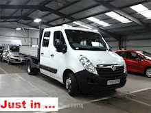 Vauxhall Movano R3500 L3H1 twin wheel alloy crewcab tipper