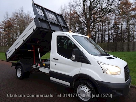 Ford Transit 350 2.2TDCi / 125ps / 6 speed, factory built 'OneStop' alloy bodied single cab tipper,