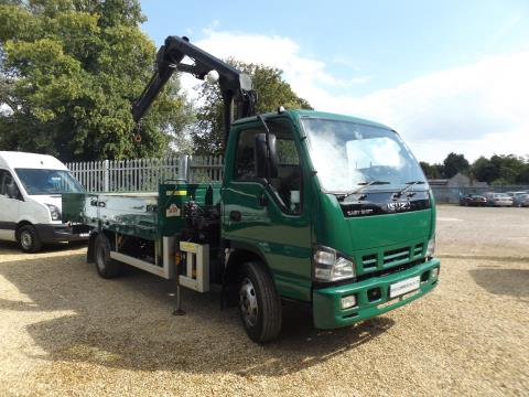 Isuzu Truck NQR Dropside with Atlas 48.2 Crane