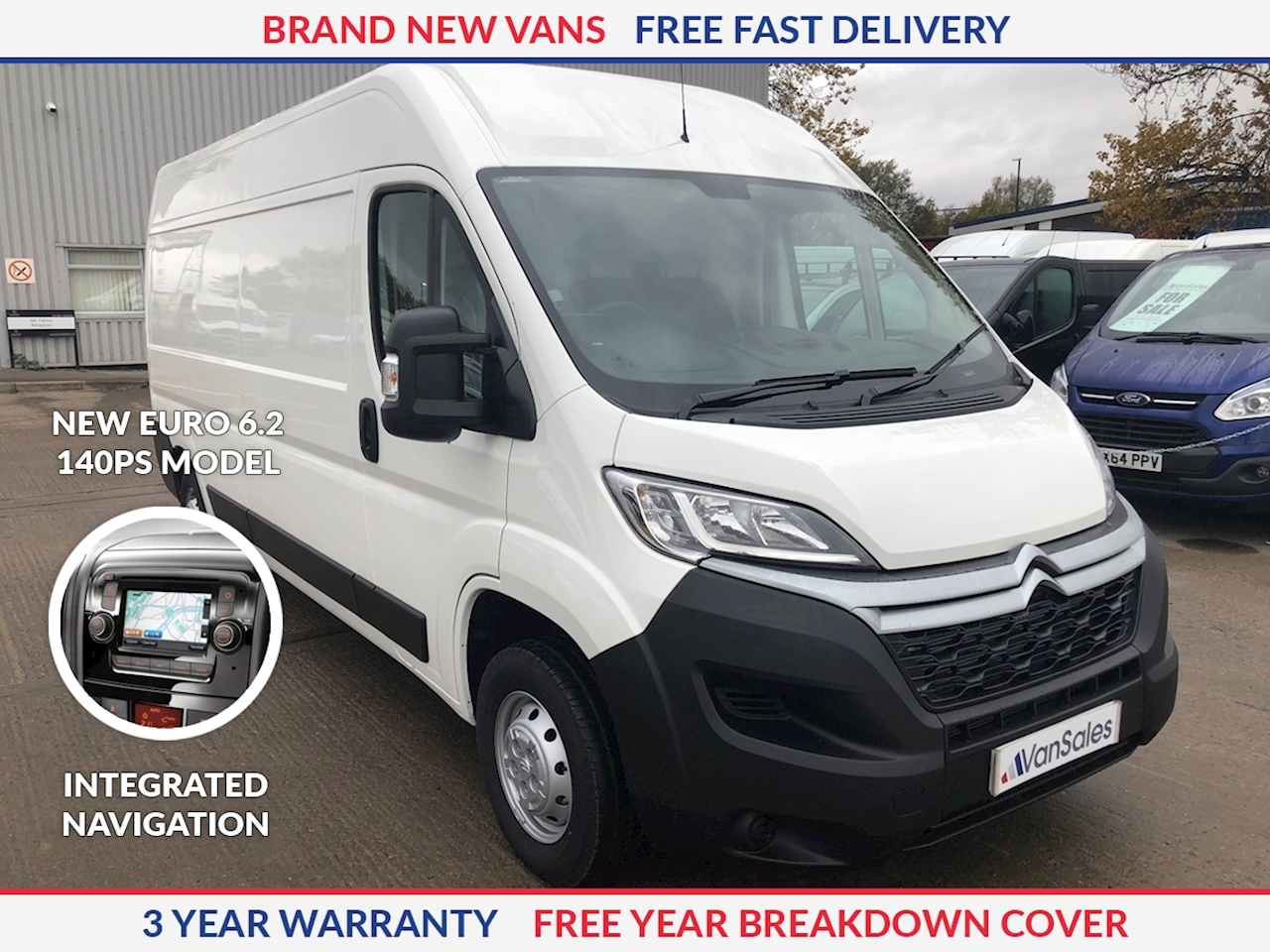 Citroen Relay L3 H2 2.2 HDI 140ps Enterprise Euro 6.2 **NEW MODEL**