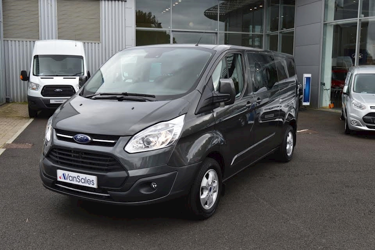 used ford transit custom l1 2 0 tdci 290 limited double cab 130ps swb crew van 2017 van sales. Black Bedroom Furniture Sets. Home Design Ideas