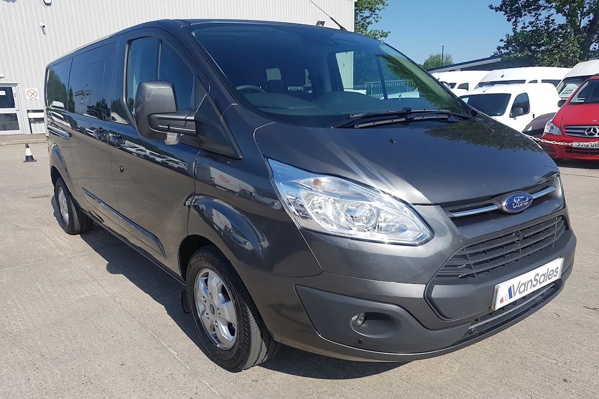 used ford transit custom l1 2 0 tdci 290 limited double cab automatic 130ps swb crew van 2017. Black Bedroom Furniture Sets. Home Design Ideas