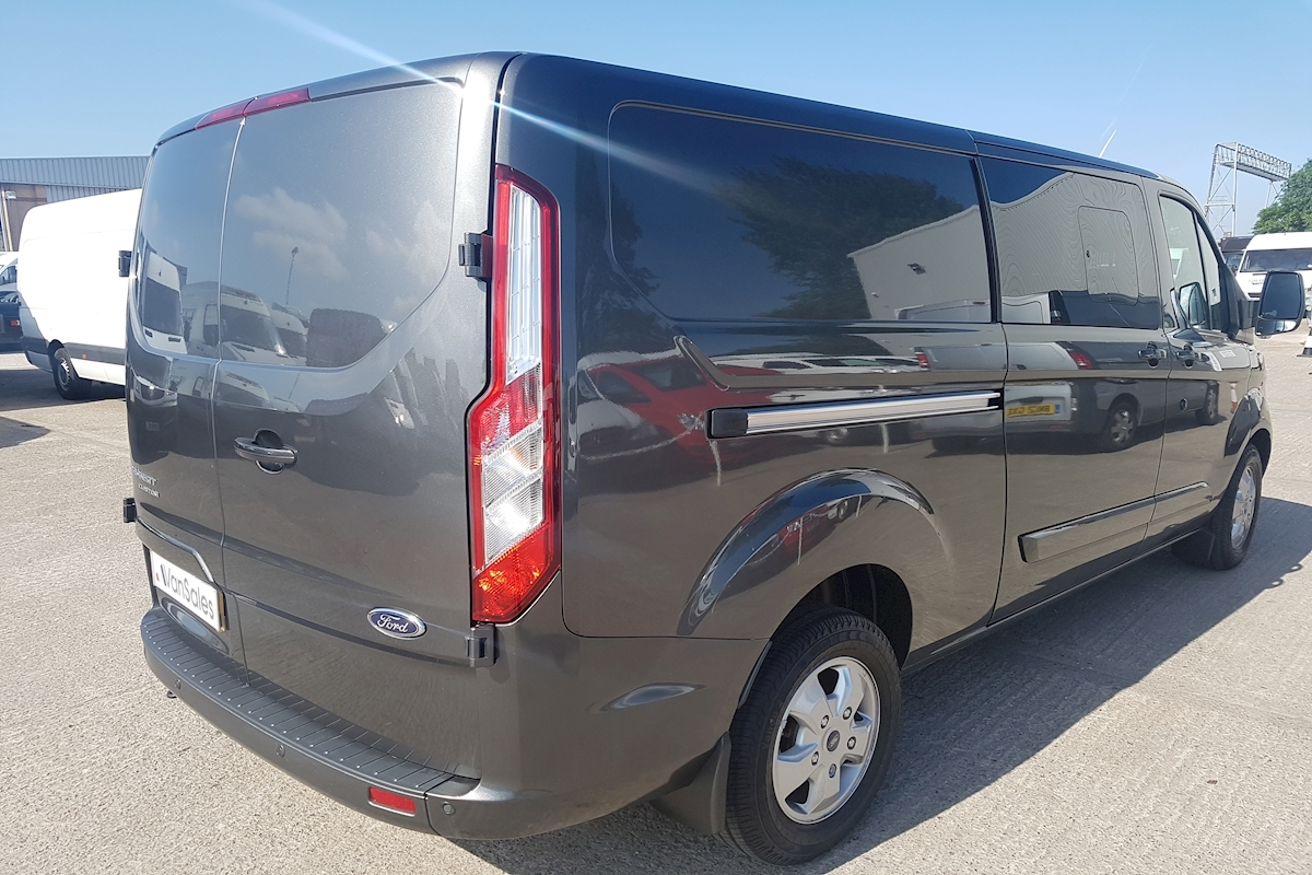 used ford transit custom l2 2 0 tdci 290 limited double cab automatic 130ps lwb crew van 2017. Black Bedroom Furniture Sets. Home Design Ideas