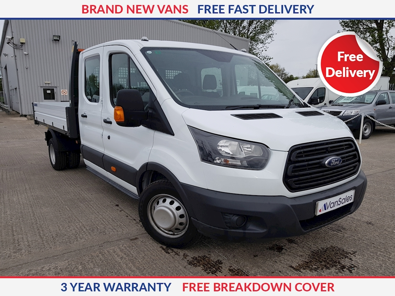 Ford Transit 350 L3 2.0 TDCI Double Cab Tipper 130ps