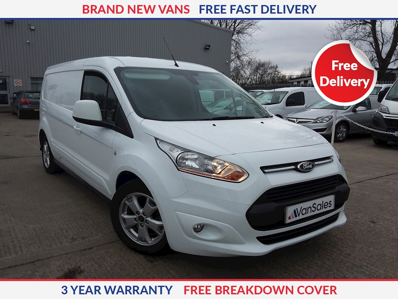 Ford Transit Connect L2 1.5 TDCI 240 Limited 120ps LWB Panel Van