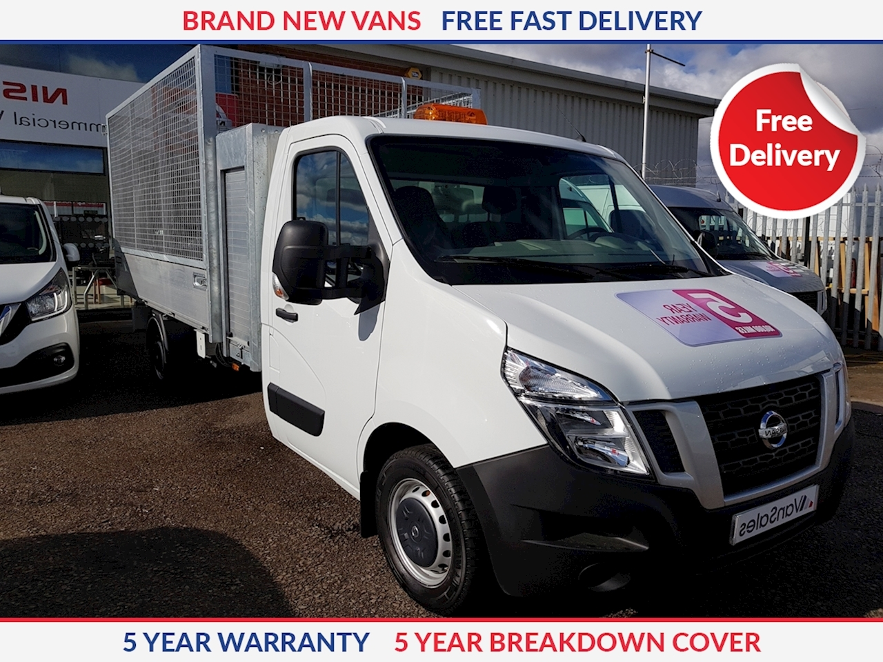Nissan NV400 L3 Caged Tipper with Tool Box