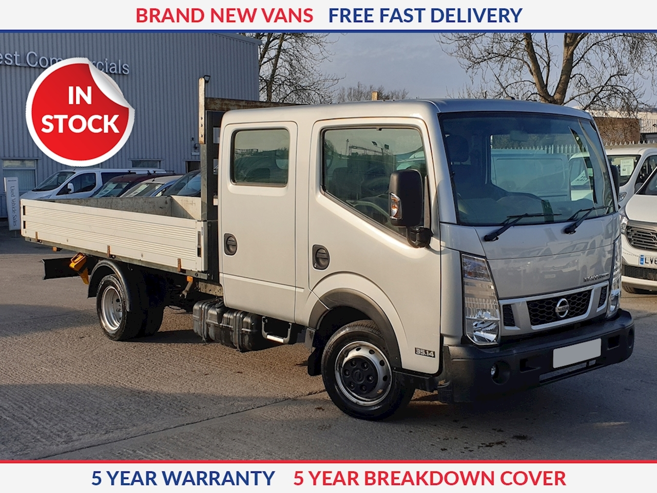 Nissan NT400 Cabstar Double Cab Dropside MWB 3.0 dCi 130ps Air Con