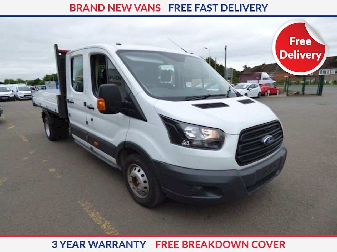 Ford Transit L4 2.0 TDCI 350 Double Cab Dropside 130ps