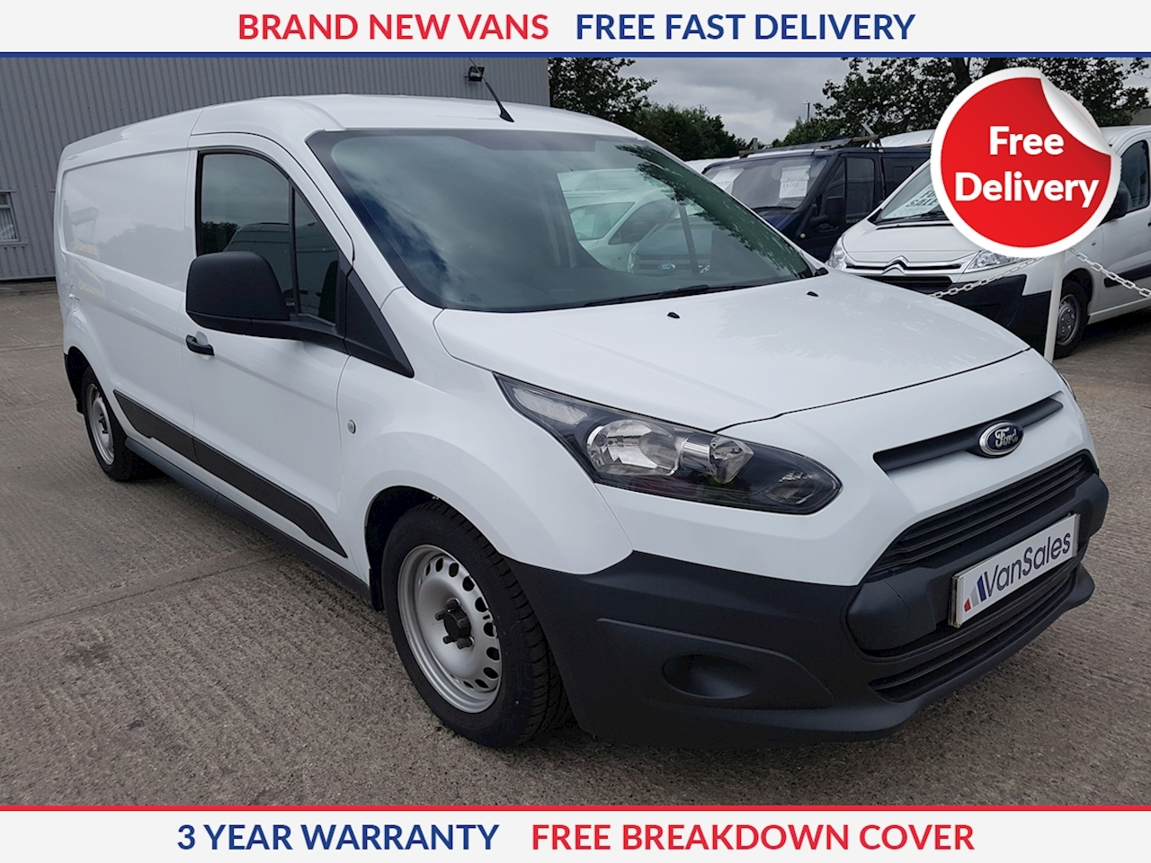 Ford Transit Connect L2 1.5 TDCI 240 Base 75ps LWB Panel Van