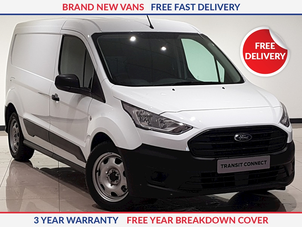 Ford Transit Connect L2 1.5 TDCI 240 Leader 100ps LWB Panel Van