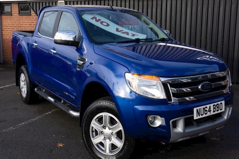 Ranger Limited 4X4 Double Cab 2.2TDCi 150ps Pick-Up in Blue with NO VAT!