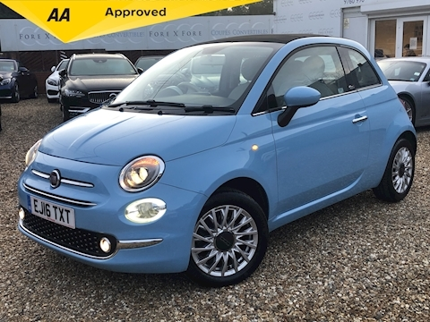 Fiat 500 C Lounge Convertible 1.2 Manual Petrol
