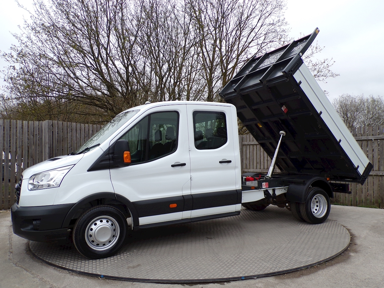 Ford Transit 350 Crew Cab 1 stop Tipper