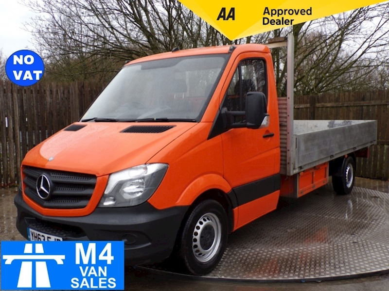 Mercedes-Benz Sprinter 313 Cdi LWB 14ft Dropside Auto s/c **NO VAT** Image 1