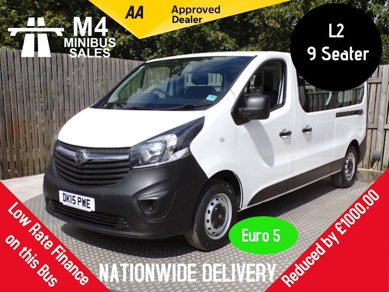 Vivaro 1.6 CDTi 2900 9 Seater Diesel Manual L2 H1 EU5 (9 Seat) (115 ps) Combi Van 1.6 Manual Diesel