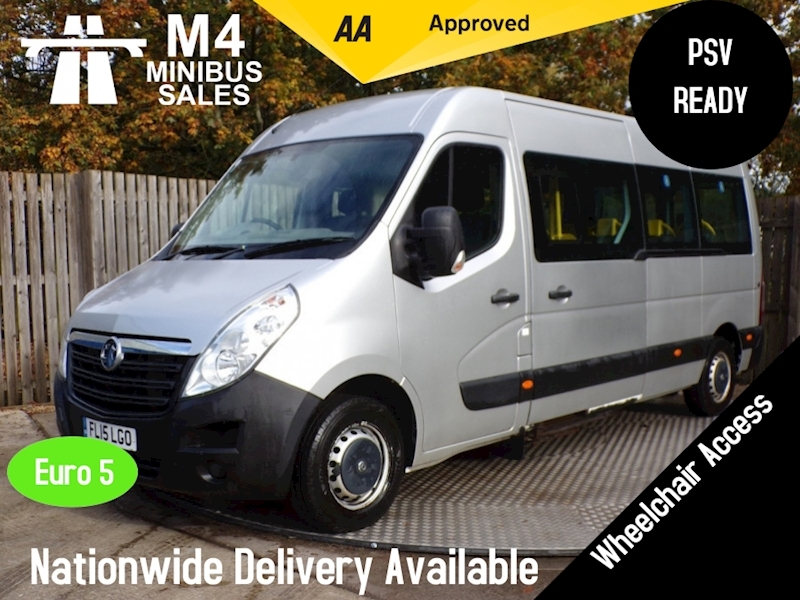 Vauxhall Movano 14 Seat Wheelchair Access PSV AVAILABLE Image 1