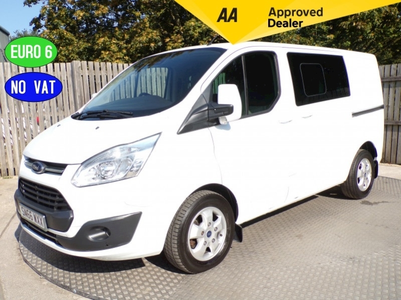 Transit Custom Crew Van SWB Ltd Euro 6 Panel Van 2.0 Manual Diesel