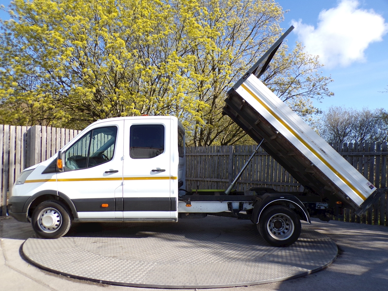 Ford Transit 350 Crewcab Tipper 1 Stop Body Euro 6